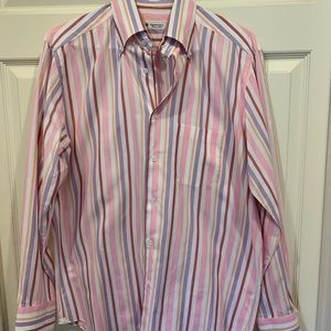 Domenico Vacca Italy Button Down Striped Shirt